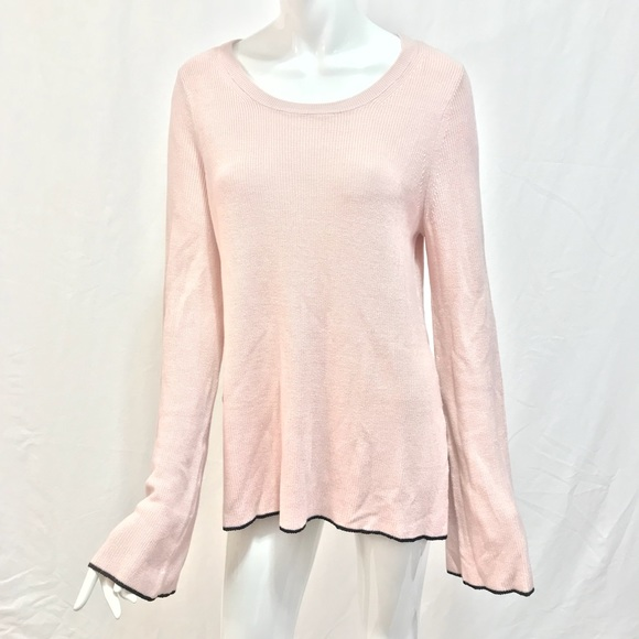 Vince Camuto Sweaters - Vince Camuto Light Pink Sweater with Bell Sleeves